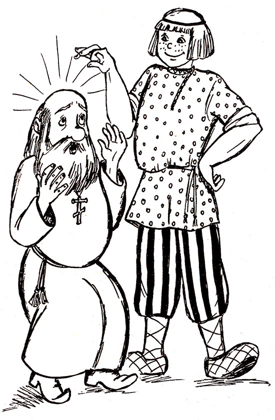 Иллюстрация к сказке о попе и работнике его балде рисунок
