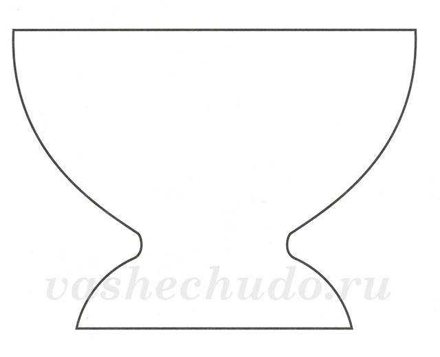 Чтобы, шаблон вазы из открыток