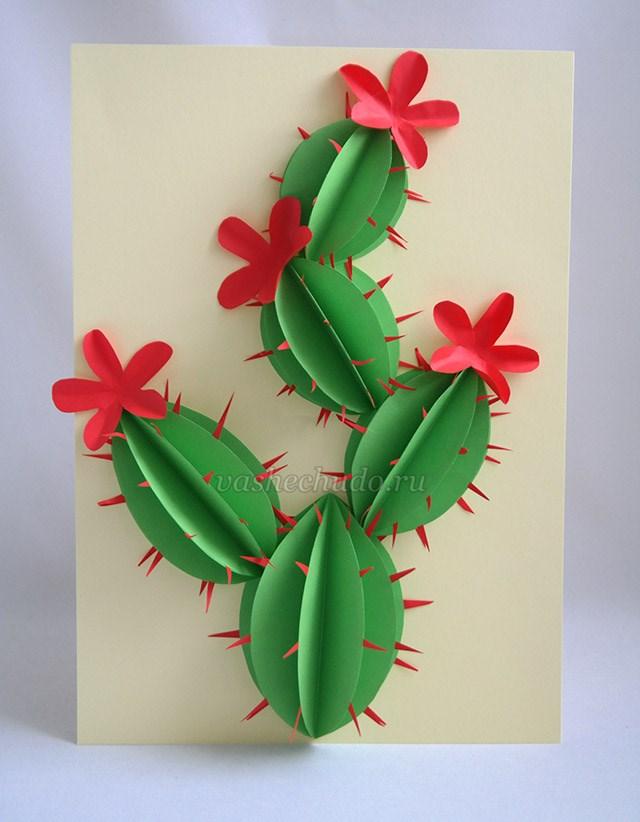 20ae712b2ade Аппликация - объемные цветы их бумаги для детей 5-8 лет. Мастер ...