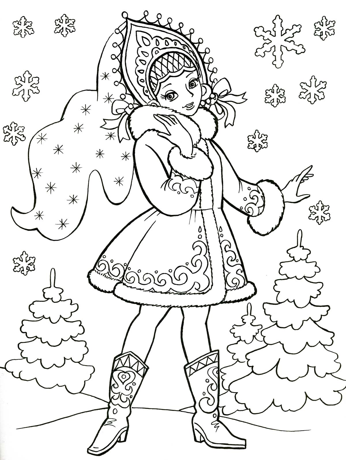 Новогодние раскраски для детей. Распечатать бесплатно