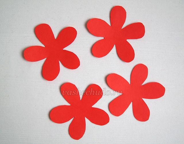 Аппликация цветы из цветной бумаги своими руками