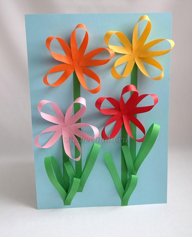 Мужчине, открытка ваза с цветами из бумаги своими руками