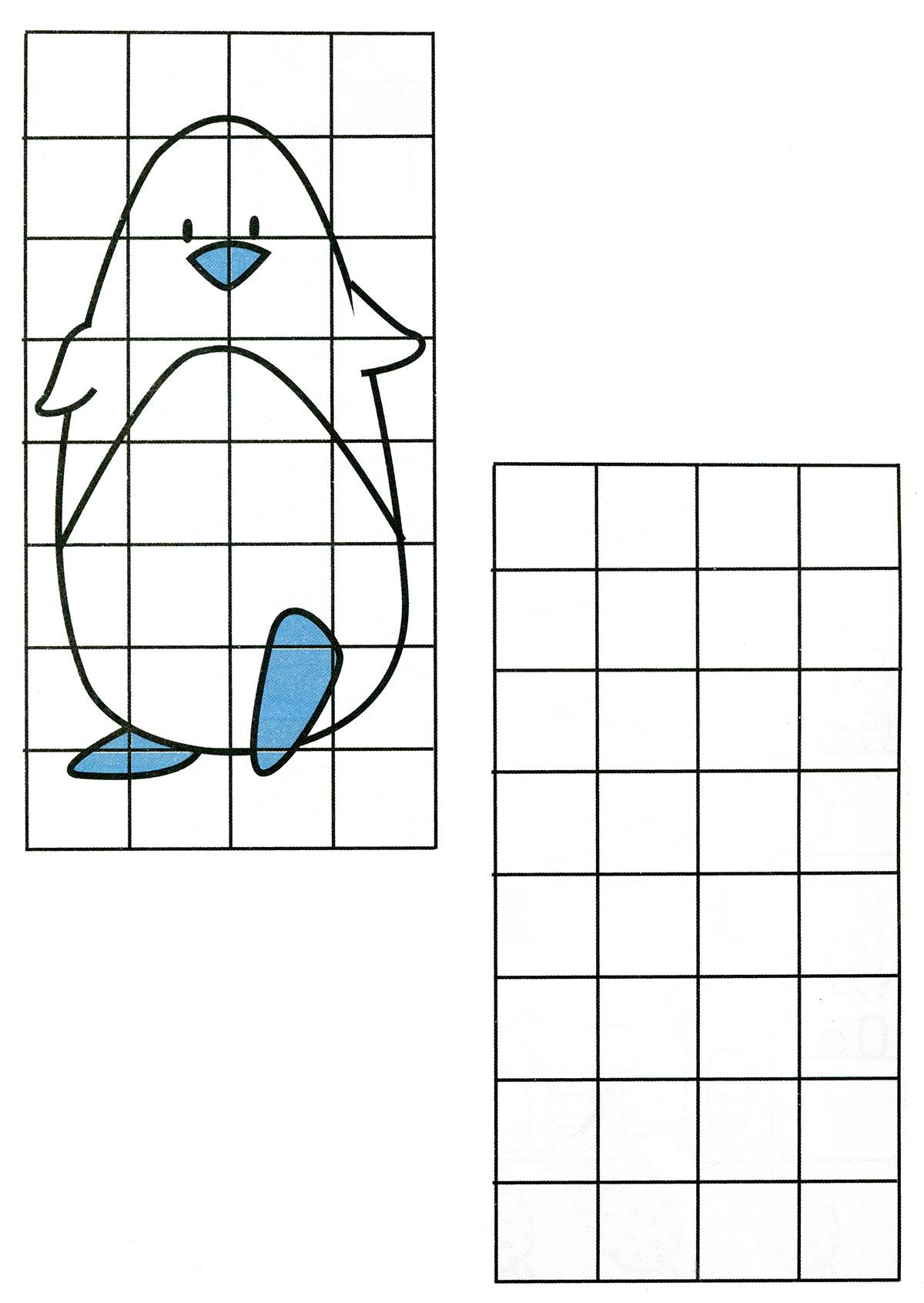 Рисовать по клеточкам в тетради картинки для девочек - 3c2e6