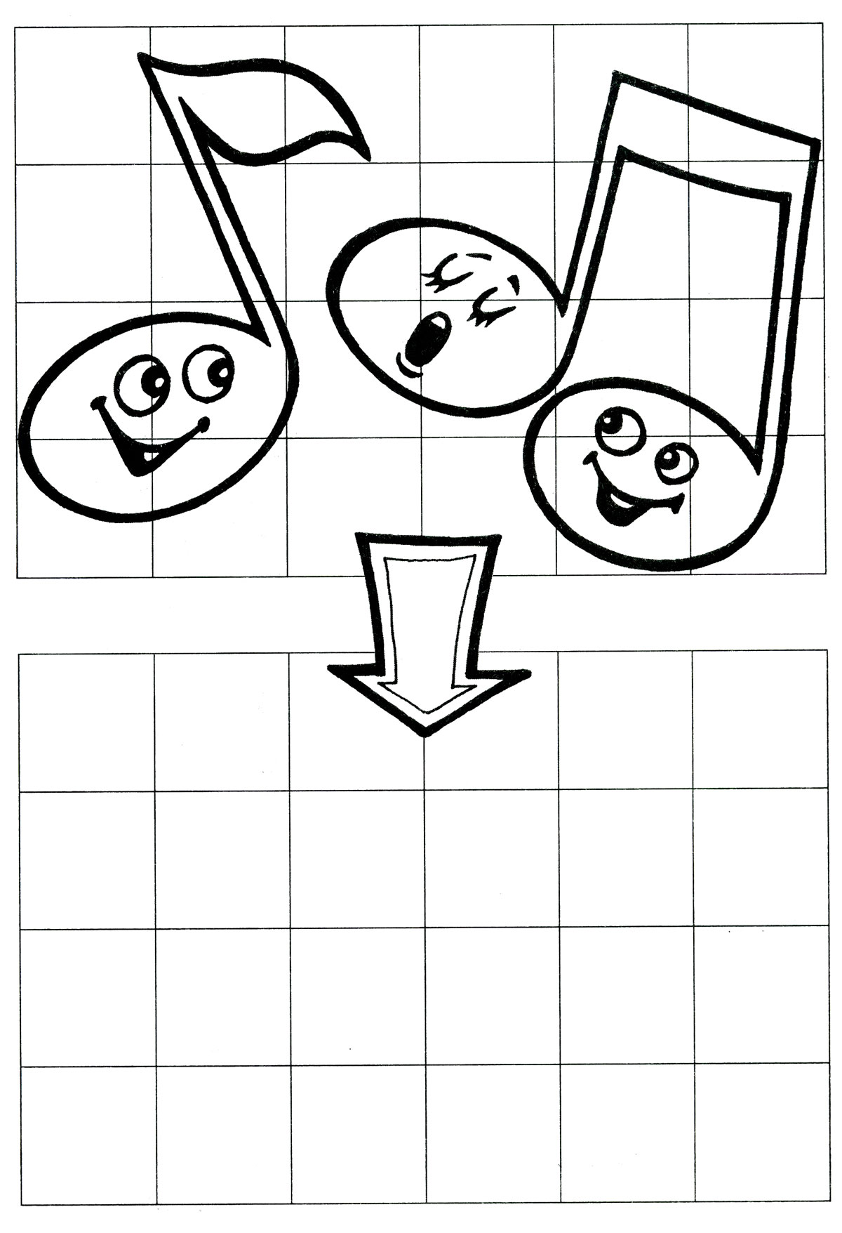 По клеточкам рисование для ребёнка