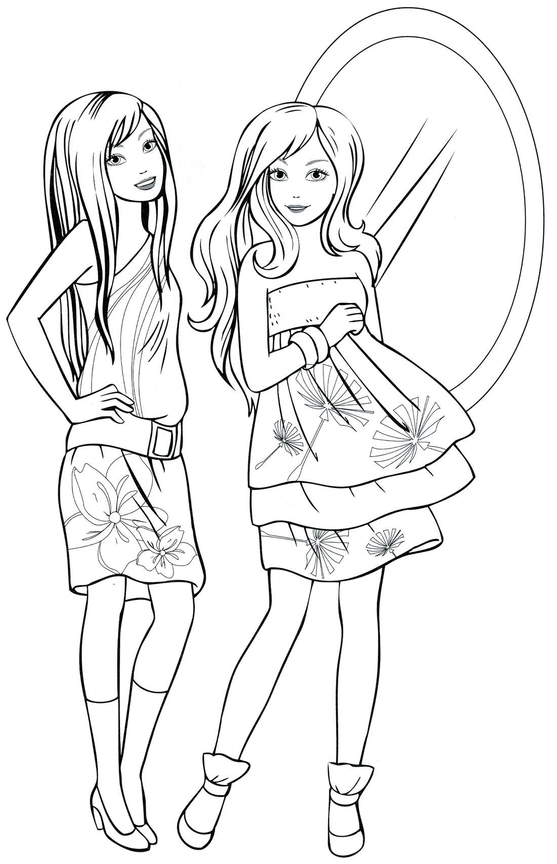 Раскраски для девочек да 7 лет бесплатно