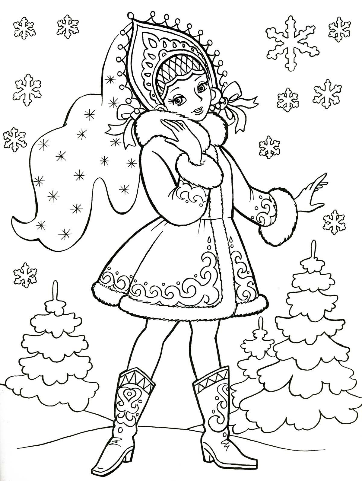 Новогодние раскраски для дошкольников